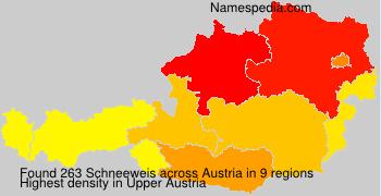 Surname Schneeweis in Austria