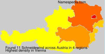 Familiennamen Schneidewind - Austria