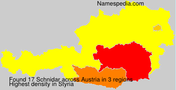 Surname Schnidar in Austria