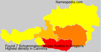 Surname Schoenmakers in Austria