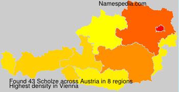 Surname Scholze in Austria