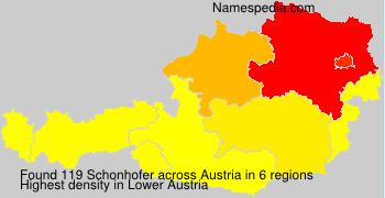 Surname Schonhofer in Austria
