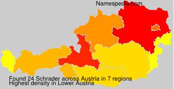 Familiennamen Schrader - Austria