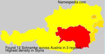 Surname Schramke in Austria