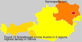 Surname Schreibvogel in Austria