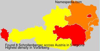 Surname Schrollenberger in Austria