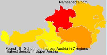 Surname Schuhmann in Austria