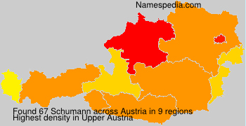 Familiennamen Schumann - Austria