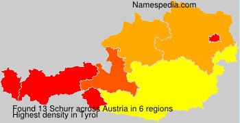 Surname Schurr in Austria