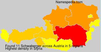 Surname Schwaberger in Austria