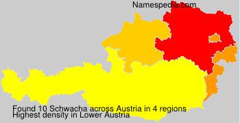 Surname Schwacha in Austria