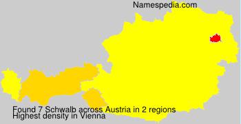 Surname Schwalb in Austria