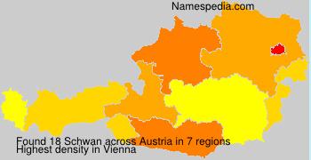 Surname Schwan in Austria