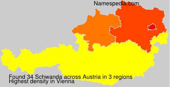 Familiennamen Schwanda - Austria