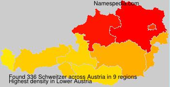 Surname Schweitzer in Austria