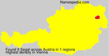 Surname Segal in Austria