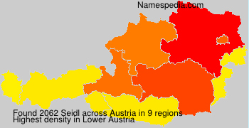 Surname Seidl in Austria