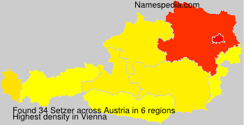 Surname Setzer in Austria