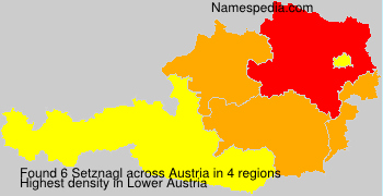 Surname Setznagl in Austria