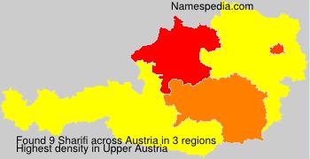 Surname Sharifi in Austria