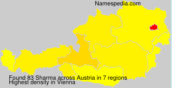 Surname Sharma in Austria