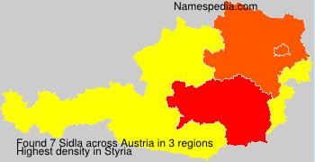 Surname Sidla in Austria