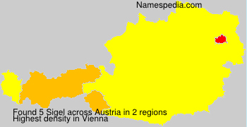 Surname Sigel in Austria