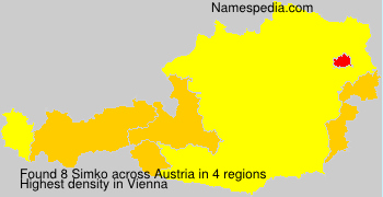 Familiennamen Simko - Austria