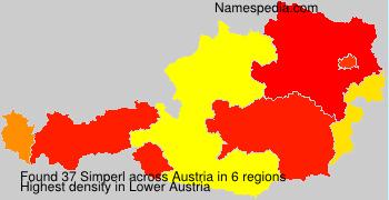 Familiennamen Simperl - Austria