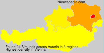 Surname Simunek in Austria