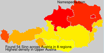 Familiennamen Sinn - Austria