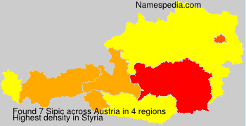 Surname Sipic in Austria