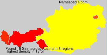 Familiennamen Sirin - Austria
