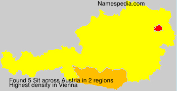 Surname Sit in Austria