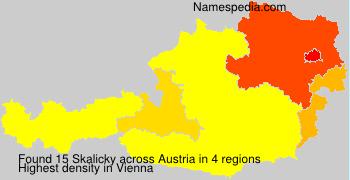 Surname Skalicky in Austria
