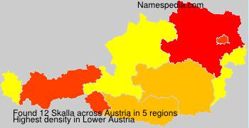 Surname Skalla in Austria