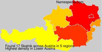Surname Skalnik in Austria