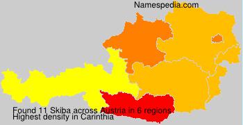 Surname Skiba in Austria