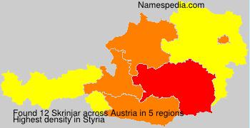 Familiennamen Skrinjar - Austria