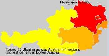 Surname Slanina in Austria