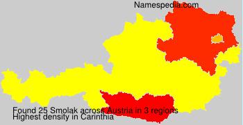 Surname Smolak in Austria