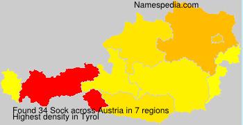 Familiennamen Sock - Austria