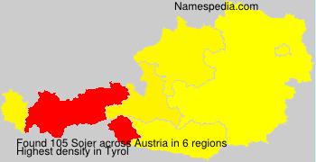 Familiennamen Sojer - Austria