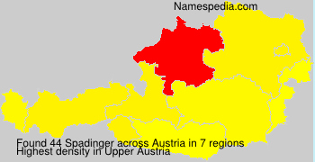 Familiennamen Spadinger - Austria