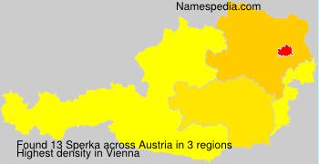 Surname Sperka in Austria