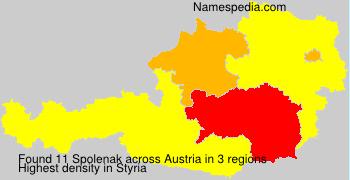 Familiennamen Spolenak - Austria
