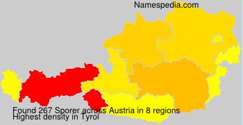 Surname Sporer in Austria