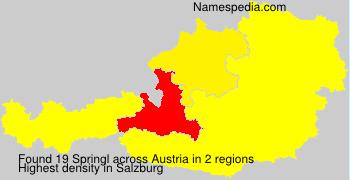 Surname Springl in Austria