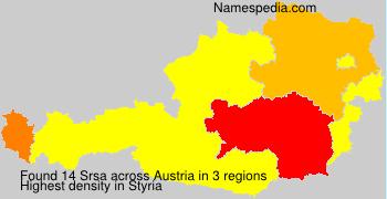Surname Srsa in Austria