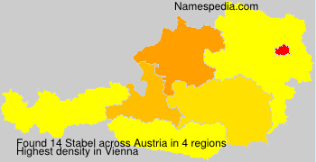 Surname Stabel in Austria